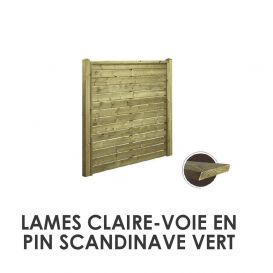 Lames claire-voie en pin scandinave
