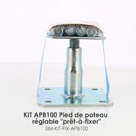 """KIT FIX APB Pied de poteau réglable """"prêt-à-fixer"""""""