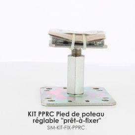 """KIT FIX PPRC Pied de poteau réglable """"prêt-à-fixer"""" Simpson"""