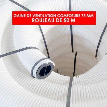 Gaine de ventilation 75 mm diamètre et 50m de long