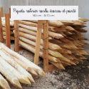 Piquets Robinier Acacia Ronds ecorces et pointé