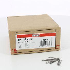 Pointes à lambris 1,8 x 30 Galva Alsafix - boite de 1kg
