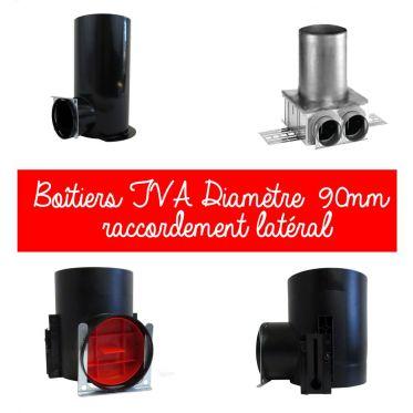 Boîtiers TVA Diamètre 90mm raccordement latéral