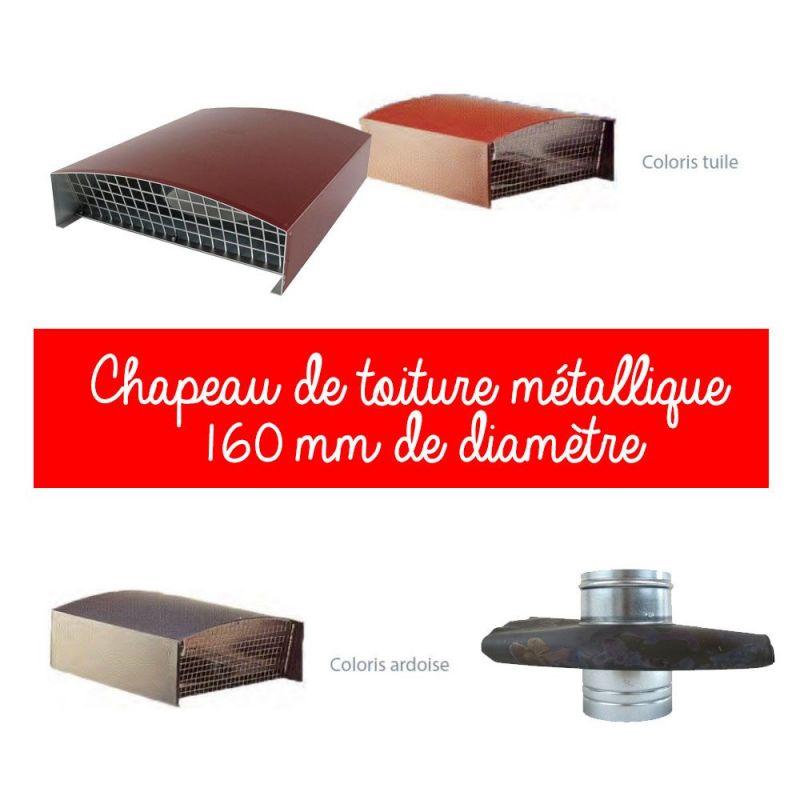 Feuille D Ardoise À Coller Prix chapeau de toiture 160 mm diamètre   kenzai matériaux