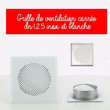 Grille de ventilation carrée DN 125