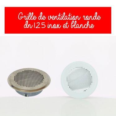 Grille de ventilation design DN125