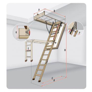 Escalier escamotable LWT Fakro