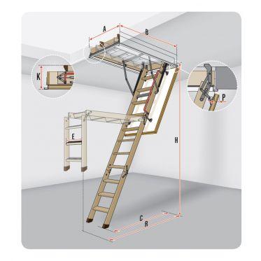 Escalier escamotable LWZ...