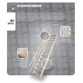 Escalier de meunier MSU universal et main courante