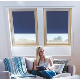 Store intérieur bleu crépuscule avec bord alu manuel