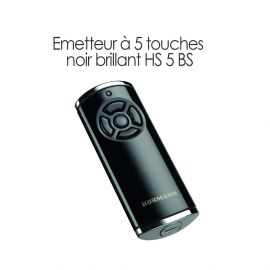 Émetteur à 5 touches Noir brillant HS 5 BS Hormann