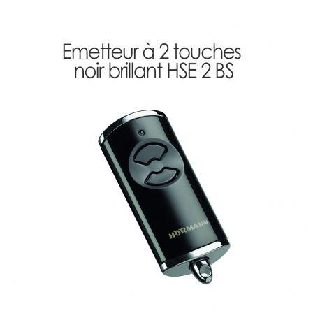Émetteur à 2 touches Noir brillant HSE 2 BS Hormann