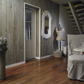 Lambris pin en bois flotté aspect scié gris délavé