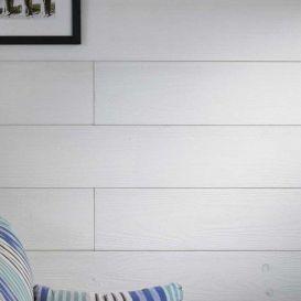 Lambris en pin brossé Royan Blanc Nologo