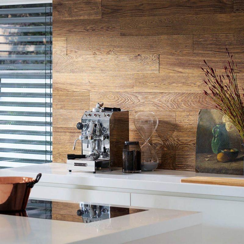 Lambris chêne barrique river brossé | Kenzai Matériaux Écologiques