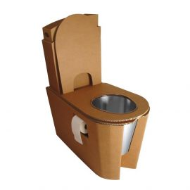 Toilette sèche Eco-Trône Buzz en carton sans motif