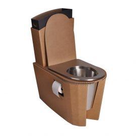 Toilette sèche en carton avec assise en métal