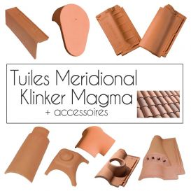 Tuiles Klinker Meridional Magma Cobert et accessoires