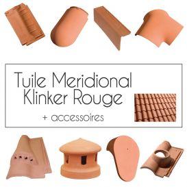 Tuiles Klinker Meridional Rouge Cobert et accessoires