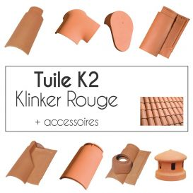 Tuiles Klinker K2 - finition Rouge