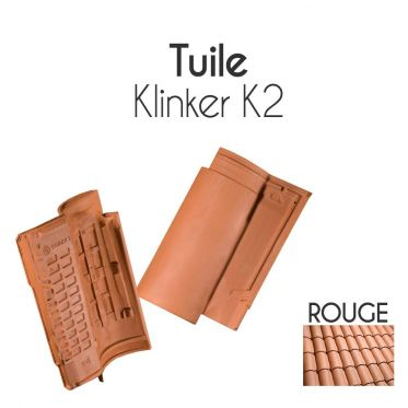 Tuiles Klinker K2 - finition Rouge