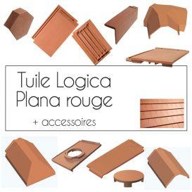 Accessoires pour tuiles Logica Plana Rouge Cobert
