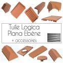Tuiles Logica Plana Cobert et accessoires - Ébène