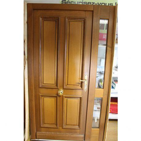 Porte d'entrée Bieber en pin modèle Natacha 1200 x 2120 mm
