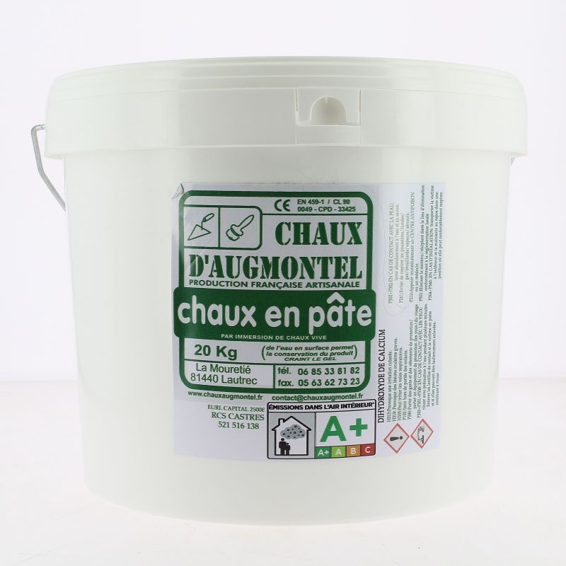 Chaux en pâte d'Augmontel 20 kg