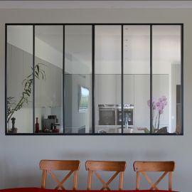 Verrière en aluminium d'intérieur finition noir sablé