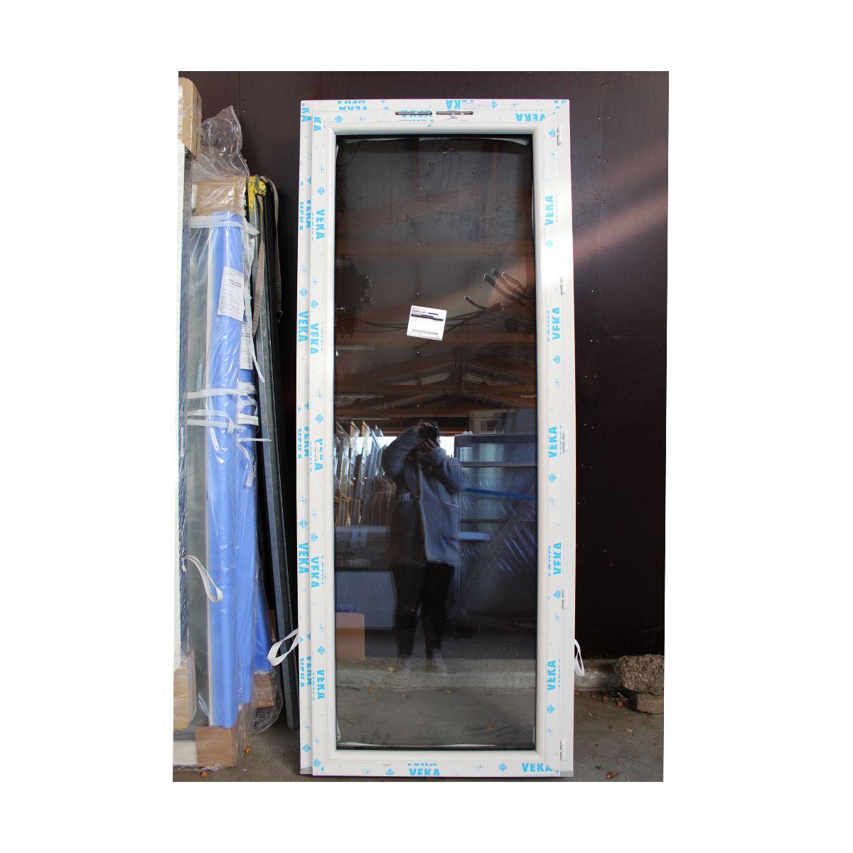 Fenetre Alu Noir Avis porte-fenêtre 1 vantail à la française 2150 x 800 mm veka