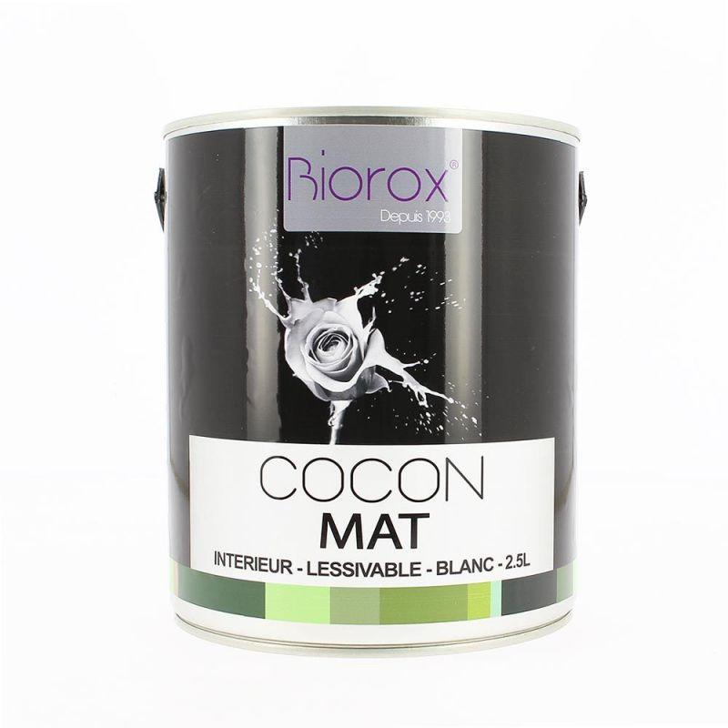 Peinture mate blanche d'origine végétale Cocon Biorox