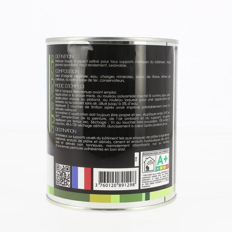 Peinture satinée blanche d'origine végétale Sweet Biorox