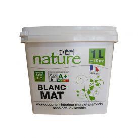Peinture végétale Défi nature Blanc Mat 1L