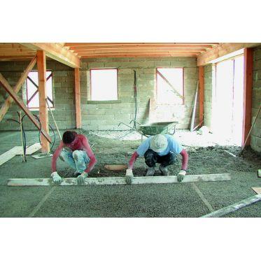 Dalle de beton chaux chanvre