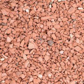 Tuiles concassées en terre cuite rouge