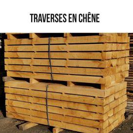 Traverses en chêne naturel non traitées