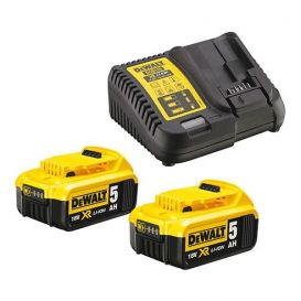 Pack de 2 batteries 5.0Ah XR 18V et un chargeur multi-voltages