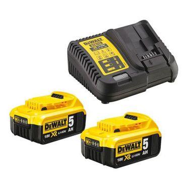 Pack de 2 batteries 5.0Ah XR 18V et un chargeur multi-voltages