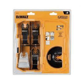 Coffret 5 lames Multicutter pour bois, bois avec clous et PVC