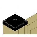 Chapeau pyramidal pour poteau bois finition noire