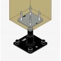 Pied de poteau réglable APB100PB finition noire