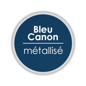porte alu bleu canon metallisé